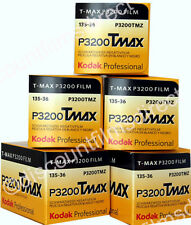 5 x  KODAK TMAX 3200 35mm 36 EXPOSURE BLACK & WHITE CAMERA FILM - 1st CLASS POST