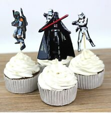 24 pcs Cupcake Cup Cake Decorating,Toppers PARTY DECORATION , Star Wars