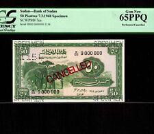 South Sudan 50 Piasres 1968 P-7cs * PCGS Gem Unc 65 PPQ * Specimen *