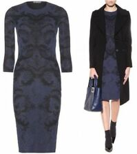 Alexander McQueen Spine Lace Jacquard 3/4-Sleeve Dress  Orig$1680.00 Size - M
