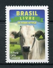 Brazil 2018 MNH Foot & Mouth Disease Free 1v Set Cows Farm Animals Stamps