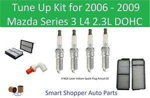 Tune Up for 2006-2009 Mazda 3 L4  PCV Valve, Oil Air Cabin Air Filter Spark Plug