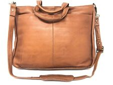 Latico Leather Laptop Tablet Briefcase Shoulder Bag Rust Cross Body
