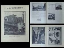 CONSTRUCTION MODERNE 1931 LE TOUQUET, CINEMA LE NORMANDY, LOUIS QUETELART
