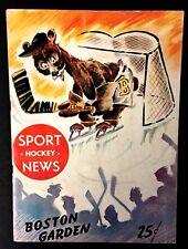 1949 Boston Gardens NHL Hockey Program VTG Boston Bruins vs Toronto Maple Leafs