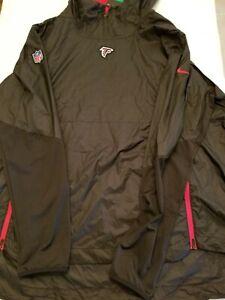 NIKE ATLANTA FALCONS NFL Windbreaker Pullover Jacket Hoodie Men Large $110.00
