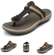 Mens Beach Thong Clip Toe Slippers Shoes Slingbacks Pool Flats Walking Casual L