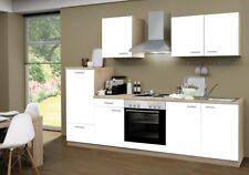 Menke Einbau Küchenzeile Küche Küchenblock 270cm eiche Sonoma Front WEISS