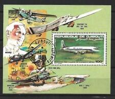 Avions Djibouti (5) bloc oblitéré