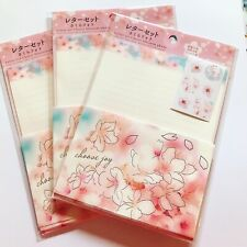 Letter set Cherry Blossom photo Daiso Kawaii stationery sheets envelopes seals