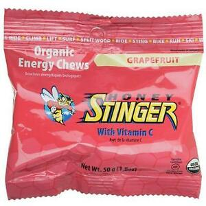 Honey Stinger Organic Energy Chews 50G Box Of 12 Cherry Blossom Bike
