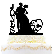 Personalized Wedding Cake Topper Mr & Mrs Bride Groom Last Name Love Decoration