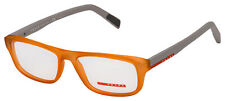 Prada Sport Eyeglasses PS 06GV UFL1O1 54 Transparent Orange Frame [54-17-140]