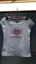 T Shirt Roland Garros Blanc pour Fille 4/5 ans Excellent Etat
