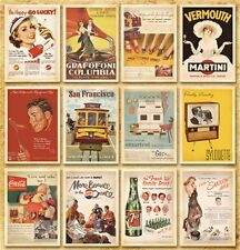 Postcard Set Vintage Postcards Advertising Album Poster Old Greeting Post Cards