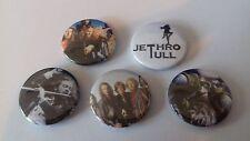 5 JethroTull button badges 25mm Hunting Girl Velvet Green Jack in the My God