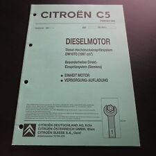 Werkstatthandbuch Citroen C5 Siemens Einspritzung für HDI Dieselmotor DW10TD