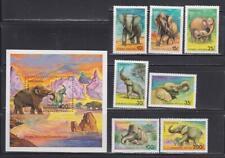 AK28 - ANIMAL KINGDOM STAMPS TANZANIA 1991 MAMMOTH ELEPHANTS SS SET MNH