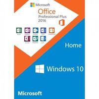 SET Microsoft Windows 10 Home + Office 2016 Professional Plus Key+ Link 32+64Bt