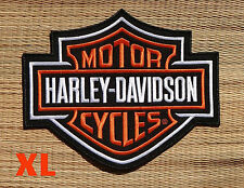 Harley Davidson Classic Orange Logo Sew-on Patch (XL)