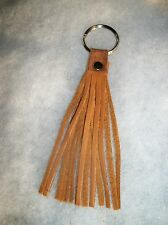 Indian Tan Motorcycle Handcrafted Deer Leather Fringed Key Ring
