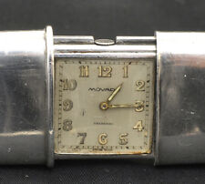 Movado Ermeto sold by Eberhard Milano solid silver case, working, exc+++++