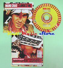 CD singolo MANU CHAO clandestino MANO NEGRA 1998 eu PROMO CARDSLEEVE virgin(S17)