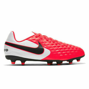 Nike Tiempo Legend 8 Club FG/MG JR Kid's Soccer Cleats - Orange Youth Size