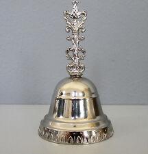 feine Handglocke Tischglocke Glöckchen Silber 10 cm Hotelglocke Empfangsglocke