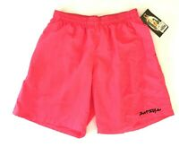 Vintage NEW 90s Surf Style Swimming Trunks Neon Salmon Color Swim Mens Size XL