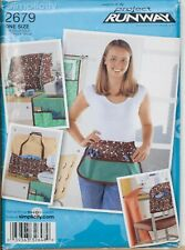Simplicity Sewing Pattern Apron Sewing Machine Room Accessories Cover 2679 Uncut