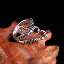 Retro Stainless Steel Steampunk Octopus Tentacle Wrap Finger Rings Open Jewelry