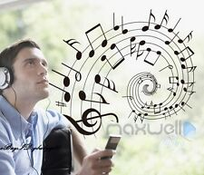 Music Notes treble clef Swirl Wall decals Removable stickers kids nursery Decor