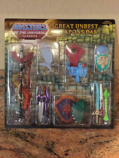 Masters Of The Universe Classics MOTUC He-Man Great Unrest Weapons Pack Pak