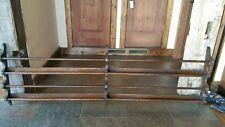 Antique Oak Plate Rack Original Finish 6 ft long 2 Tiers