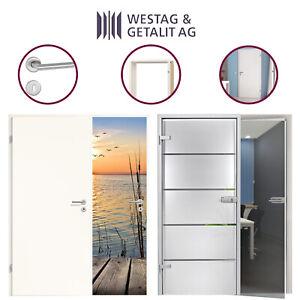 Komplettset Glastür mit Zarge oder Holztür mit Zarge Wandstärken von 100 - 270mm