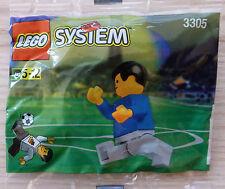LEGO® System Fußballspieler blau weiß 3305 von 1998 NEU OVP