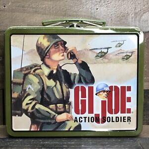1990's GI Joe Action Soldier Metal Retro Lunch Box * Hasbro Inc *