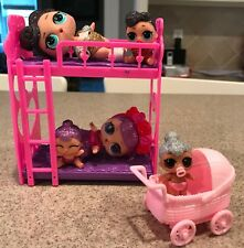LOL Bunk Bed and stroller for a LOL Doll, LOL Doll Accessory, Dolls Not Included