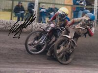JAMES COCKLE HAND SIGNED 8X6 PHOTO - SCUNTHORPE SPEEDWAY AUTOGRAPH.