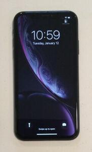 USED BLACK CDMA + GSM UNLOCKED APPLE iPhone XR, 64GB A1984 MT472LL/A M170H