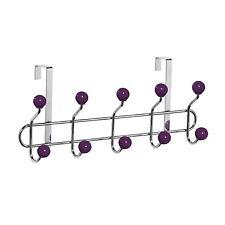 Premier Housewares 10 Hook Strong Over Door Clothes Hanger Purple Ceramic Balls