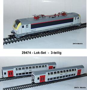 Aus Märklin 29474 Zugset mit E-Lok Vectron + 2 Doppelstockwagen der SNCB#NEU