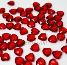 1000 DEEP RED Table Confetti Hearts Wedding Diamond Diamante Gems Scatters 6mm