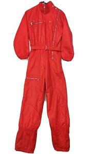 Vintage ALLSPORT One piece Snowsuit Apres Ski Suit Retro 80's Snow Bib Mens 38