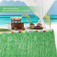 hawaii - strand sommer blumen - deko fringe plastik - quasten grass table rock