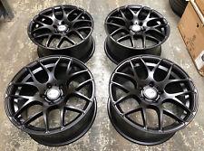 """18"""" LKW LK0.4 MATT BLACK ALLOY WHEELS FITS BMW M3 CSL E46 E90 E92 E93"""