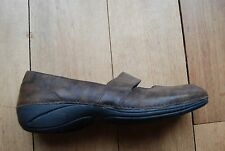 Dark Brown Distressed Look Leather  MERRELL Ortholite Brio Mary Jane Shoes 8.5