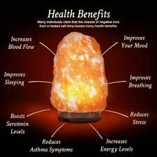100% Pure natural Salt Lamps Healing ionizing Home Decor USB Xmas Gift