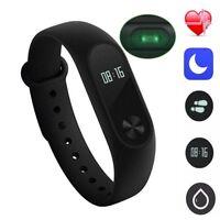 Neu For Xiaomi Mi Band 2 Fitnesstracker Fitnessuhr Schrittzähler schwarz AW